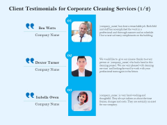 Commercial Cleaning Services Client Testimonials For Corporate Cleaning Services Compliment Professional PDF