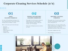 Commercial Cleaning Services Corporate Cleaning Services Schedule Demonstration PDF