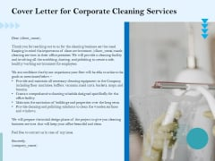 Commercial Cleaning Services Cover Letter For Corporate Cleaning Services Inspiration PDF