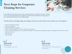 Commercial Cleaning Services Next Steps For Corporate Cleaning Services Microsoft PDF