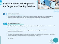 Commercial Cleaning Services Project Context And Objectives For Corporate Cleaning Services Sample PDF