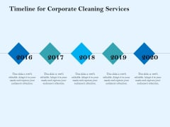 Commercial Cleaning Services Timeline For Corporate Cleaning Services Mockup PDF