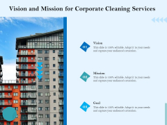 Commercial Cleaning Services Vision And Mission For Corporate Cleaning Services Introduction PDF