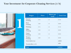 Commercial Cleaning Services Your Investment For Corporate Cleaning Services Price Brochure PDF