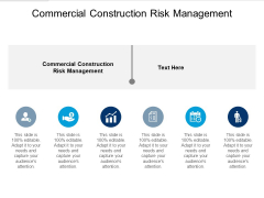 Commercial Construction Risk Management Ppt PowerPoint Presentation Icon Format Cpb