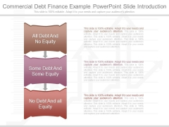 Commercial Debt Finance Example Powerpoint Slide Introduction