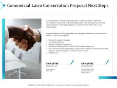 Commercial Lawn Conservation Proposal Next Steps Ppt Inspiration Designs Download PDF