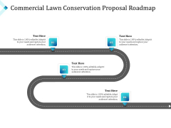 Commercial Lawn Conservation Proposal Roadmap Ppt Infographic Template Guide PDF