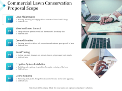Commercial Lawn Conservation Proposal Scope Ppt Graphics PDF