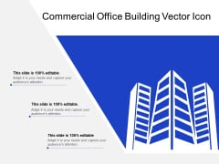 Commercial Office Building Vector Icon Ppt PowerPoint Presentation Infographic Template Maker PDF