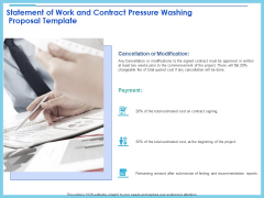 Commercial Pressure Washing Contract Template Statement Of Work And Contract Pressure Washing Proposal Template Graphics PDF