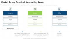 Commercial Property Evaluation Techniques Market Survey Details Of Surrounding Areas Clipart PDF