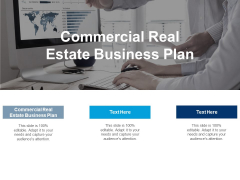Commercial Real Estate Business Plan Ppt PowerPoint Presentation Layouts Themes Cpb