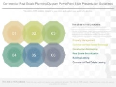 Commercial Real Estate Planning Diagram Powerpoint Slide Presentation Guidelines