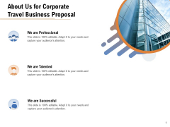 Commercial Travel And Leisure Commerce About Us For Corporate Travel Business Proposal Introduction PDF