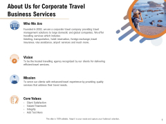 Commercial Travel And Leisure Commerce About Us For Corporate Travel Business Services Structure PDF