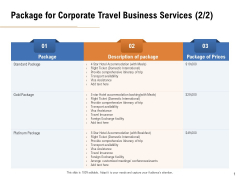 Commercial Travel And Leisure Commerce Package For Corporate Travel Business Services Platinum Icons PDF