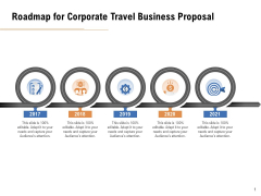 Commercial Travel And Leisure Commerce Roadmap For Corporate Travel Business Proposal Professional PDF