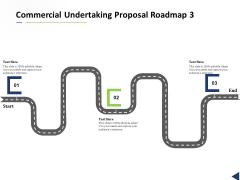 Commercial Undertaking Proposal Roadmap 3 Stage Process Ppt Model Design Inspiration PDF