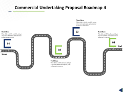 Commercial Undertaking Proposal Roadmap 4 Stage Process Ppt Summary Images PDF