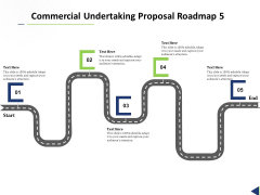 Commercial Undertaking Proposal Roadmap 5 Stage Process Ppt Pictures Inspiration PDF