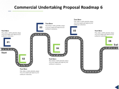 Commercial Undertaking Proposal Roadmap 6 Stage Process Ppt Inspiration Icon PDF