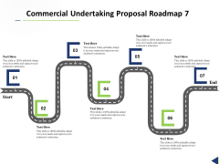 Commercial Undertaking Proposal Roadmap 7 Stage Process Ppt Professional Smartart PDF
