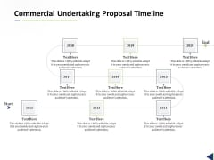 Commercial Undertaking Proposal Timeline Ppt Show Visuals PDF