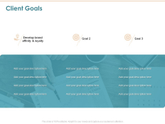 Commercializing Client Goals Ppt Ideas Picture PDF