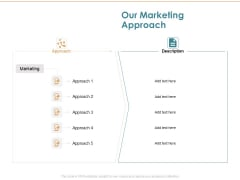 Commercializing Our Marketing Approach Ppt Infographics Ideas PDF