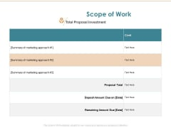 Commercializing Scope Of Work Ppt Summary Graphics PDF