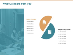 Commercializing What We Heard From You Ppt File Images PDF