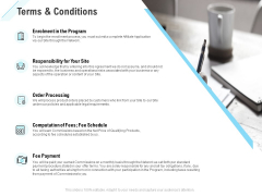 Commission Based Marketing Terms And Conditions Ppt Styles Guidelines PDF