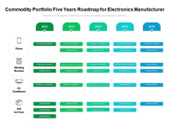 Commodity Portfolio Five Years Roadmap For Electronics Manufacturer Mockup