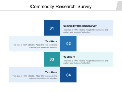 Commodity Research Survey Ppt PowerPoint Presentation Portfolio Good Cpb
