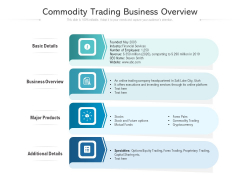 Commodity Trading Business Overview Ppt PowerPoint Presentation Outline Good PDF