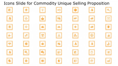 Commodity Unique Selling Proposition Icons Slide For Commodity Unique Selling Proposition Mockup PDF