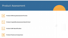 Commodity Unique Selling Proposition Product Assessment Inspiration PDF