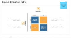 Commodity Unique Selling Proposition Product Innovation Matrix Elements PDF