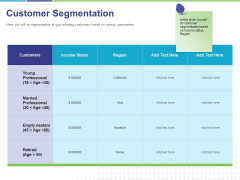 Commodity Up Selling Customer Segmentation Ppt Gallery Infographics PDF