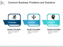 Common Business Problems And Solutions Ppt PowerPoint Presentation Icon Templates