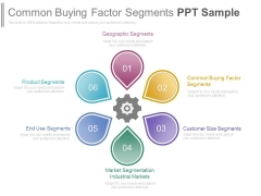 Common Buying Factor Segments Ppt Sample