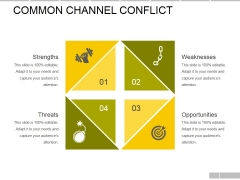 Common Channel Conflict Template Ppt PowerPoint Presentation Pictures Samples