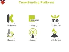 Common Crowdfunding Platforms Ppt PowerPoint Presentation Styles Master Slide