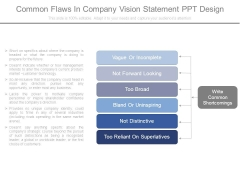 Common Flaws In Company Vision Statement Ppt Design