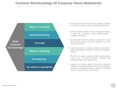 Common Shortcomings Of Company Vision Statements Ppt PowerPoint Presentation Ideas