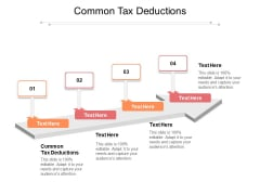 Common Tax Deductions Ppt PowerPoint Presentation Slides Influencers Cpb Pdf