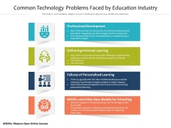 Common Technology Problems Faced By Education Industry Ppt PowerPoint Presentation Gallery Example PDF