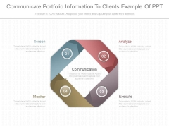 Communicate Portfolio Information To Clients Example Of Ppt