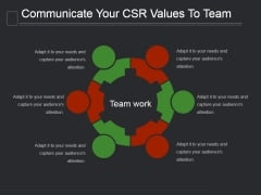 Communicate Your Csr Values To Team Ppt PowerPoint Presentation Information